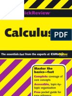 Cliff Notes Calculus Quick Review