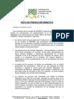Nota de Prensa Ribera Del Duero