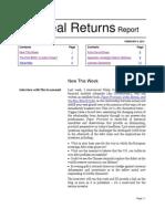 The Real Returns Report, Feb 6 2012