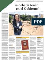 El Comercio Paloma Carcedo 'La Cultura debería tener prioridad en el Gobierno'
