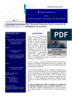Newsletter 2 de l'association des étudiants de Montpellier pour la promotion de l'IE et ses pratiques