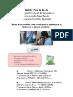 Afiche Region 5 Capacitacion Quimica Conectar Igualdad 2012