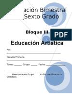 6to Grado - Bloque 3 - Educación Artística