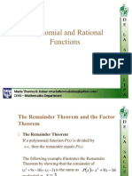 Polnomial and Rational Functions