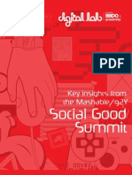Key Insights from the Mashable/ 92Y Social Good Summit