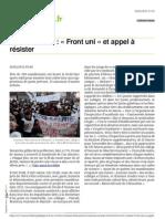 Lanouvellerepublique.fr Carte Scolaire Front Uni Et Appel a Resister
