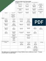 2011-2012 Schedule Xtreme Dance