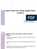 Abbreviated New Drug Application