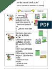 Plan de Travail de Lucie Blog