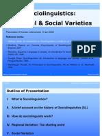 Presentation Sociolinguistics
