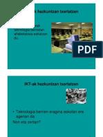 IKT-Ak Hezkuntzan Txertatzen