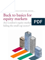 Back to Basics for Equity Markets