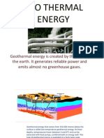 Geo Thermal Energy