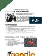 """Multiplikatorenfortbildung """"eLearning und Internetkompetenz als Element der Berufsorientierung"""""""