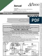 SV2000 DVD Recorder Manual