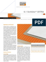 Schluter DITRA Technical Information