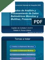Metodos de Analisis y Procesamiento de Datos Batimetricos