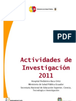 Actividades de investigacion 2011, Dr. Freud Cáceres