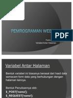 Pertemuan Ke 11 Web I (PHP)