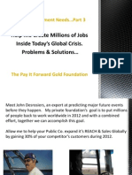 World Employment Goals Part 3 Problems and Solutions