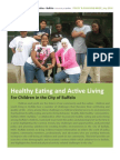 Healthy Eating and Active Living For Children in the City of Buffalo