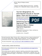 ST Tut 1 - ST Tut 1 - Article - Sustaining Tourism