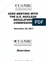 ACRS MEETING  WITH THE U.S.  NUCLEAR REGULATORY COMMISSION