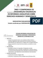 Compromiso de los/as senadores/as en reformas sobre DD.HH y Democracia (Presentacion 26 01 12)