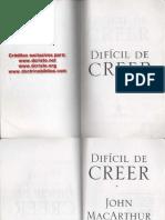 Dificil de Creer - John MacArthur