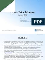 Home Price Monitor January 2012