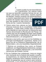MEMORÁNDUM POLÍTICO VERDES