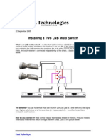 Installing a Two LNB Multi Switch