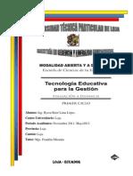 HERRAMIENTAS TECNOLÓGICAS PARA LA EDUCACIÓN