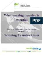 Why Learning Transfer is Essential