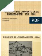 Haciendas Del Convento de La Buena Muerte 1749-1900