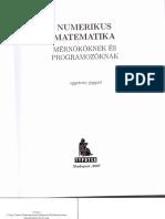 Numerikus matematika mérnököknek és programozóknak (STOYAN Gisbert)