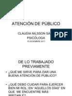 ATENCIÓN DE PÚBLICO