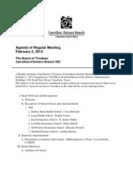 Feb. 2 School Board Meeting Agenda