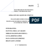 POLITICAS DE SEGURIDAD E HIGIENE APLICADAS ENUN CENTRO DE CÓMPUTO