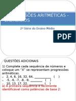 Progressões Aritméticas - Exercicios