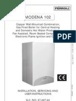 Ferroli Modena 102 Installation Manual 47 267 24
