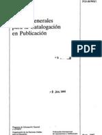 Catalogacion en Publicacion
