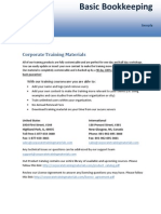 Basic Bookkeeping Sample