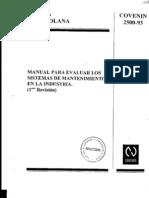 2500-1993 Sist. Mantenimiento Industria Manual