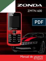 Zonda ZMTN600 Manual