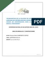 Diagnostico de La Calidad de Agua Tratada en Lagunas de Estabilizacion Construidas Por El Fondo 2