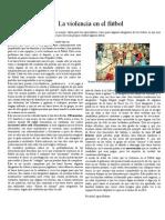 Texto de opinion sobre la violencia en el fútbol