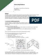 Calculation of Luminaires Using Radiance
