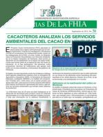 Noticia de La Fhia No. 58. Servicios Ambient Ales Del Cacao en Honduras