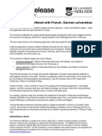 University of Adelaide offers double Masters degree with French and German universities